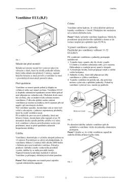 Ventilátor EUL(B,F)