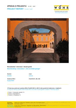 Vizualizace – realizace parkovacího výtahu v Itálii – datový list ()