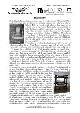 11 Tkalcovství - Základní škola Tyršova 913, Frenštát pod Radhoštěm