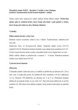 Metodický dopis 9/2015 – Rostislav Vorálek a Jan Chalupa: Zatížení
