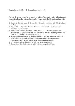 Regulačni podminky-bachorky