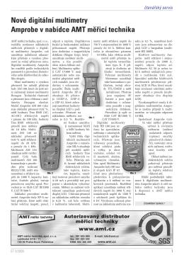 Nové digitální multimetry Amprobe - AMT měřicí technika, spol. s r.o.