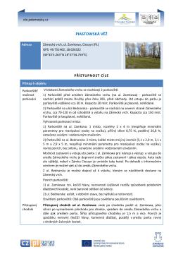 PIASTOWSKÁ VĚŽ - Cíle a trasy