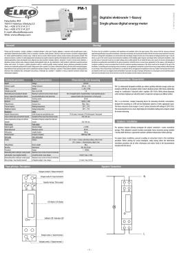 Digitální elektroměr 1-fázový Single phase digital energy meter
