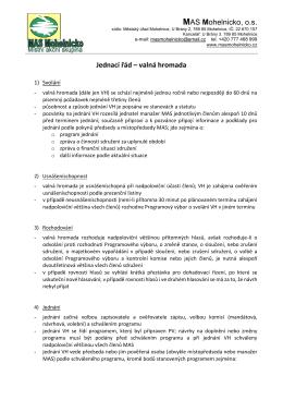 MAS Mohelnicko, o.s. Jednací řád – valná hromada