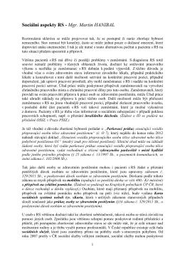 Sociální aspekty RS - Mgr. Martin HANIBAL