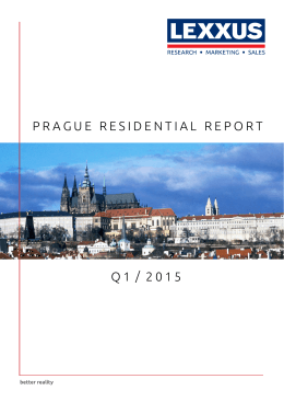 Prague residential rePort Q 1 / 2 0 1 5