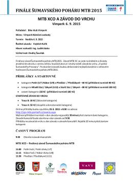 propozice  - Šumavský pohár MTB 2015