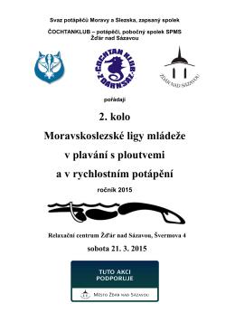 2. kolo Moravskoslezské ligy mládeže v plavání s ploutvemi a v