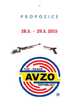 28.3. - 29.3. 2015 P R O P O Z I C E