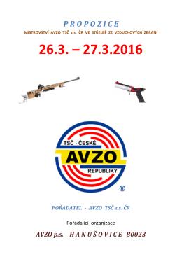 26.3. - 27.3. 2016 P R O P O Z I C E