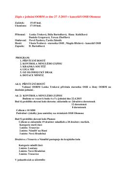 Jednání rady 27.5.2015