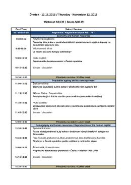 Program konference ZDE