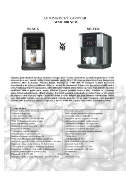 AUTOMATICKÝ KÁVOVAR WMF 800 NEW BLACK SILVER