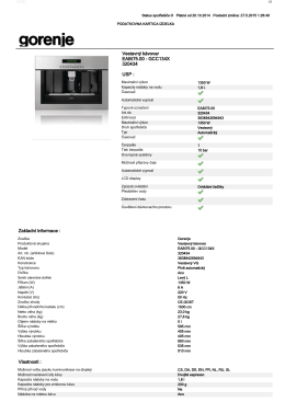 Vlastnosti : Zakladní informace : EABI75.00 - GCC134X