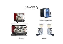 Katalog - kávovary a mlýnky kávy