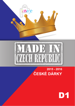 katalog MADE IN CZECH REPUBLIC D1 ke