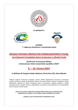 Organizační pokyny pro účastníky - Profesní Komora Požární Ochrany