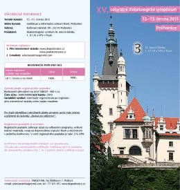 XV. celostátní diabetologické sympózium Průhonice 12.–13. června