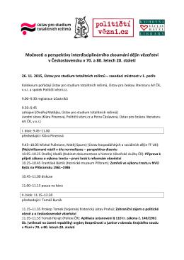 Program kolokvia o československém vězeňství