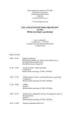 Program, informace a přihláška ke stažení v PDF