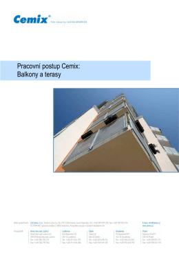 Pracovní postupy Cemix - Balkonové konstrukce