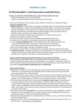 Informace ZO ČZS Bílý kámen č.1-2015