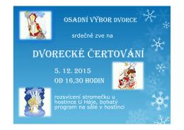plakát čerti 2015