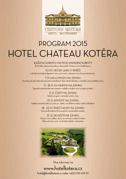 PROGRAM 2015 - Chateau Kotěra