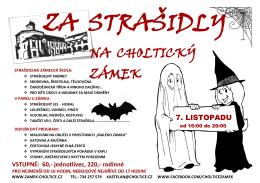 plakát Za strašidly na choltický zámek