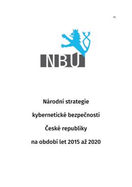 Národní strategie kybernetické bezpečnosti České republiky na