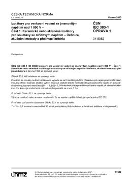 ČSN IEC 383-1 OPRAVA 1