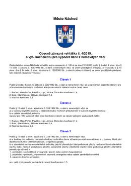 Obecně závazná vyhláška č. 4/2015, o výši