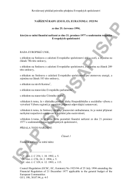 Revidovaný překlad právního předpisu Evropských