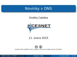 Novinky v DNS