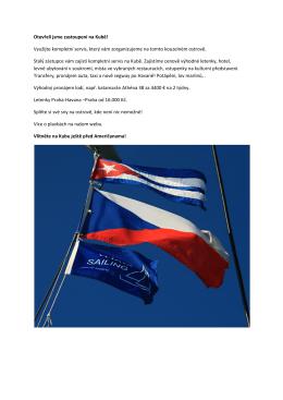Otevřeli jsme zastoupení na Kubě! Využijte kompletní