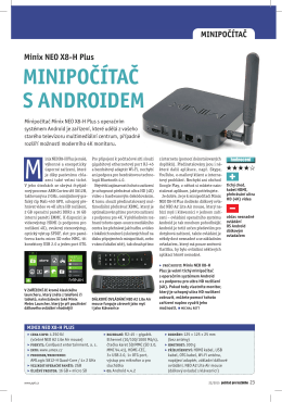 Minix NEO X8-H Plus MINIPOČÍTAČ S ANDROIDEM