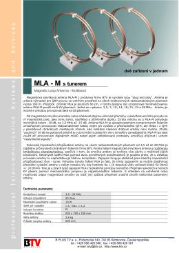 MLA-M katalogový list