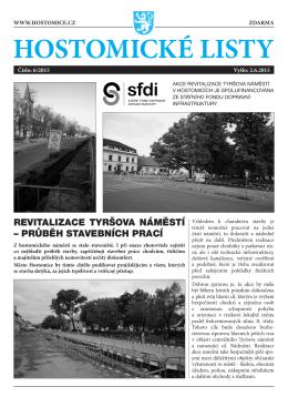Hostomické listy č. 6/2015