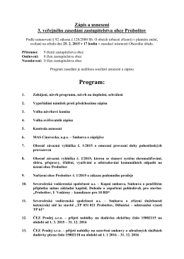 zápis a usnesení 3