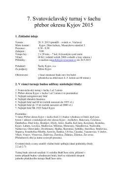 7. Svatováclavský turnaj v šachu přebor okresu Kyjov