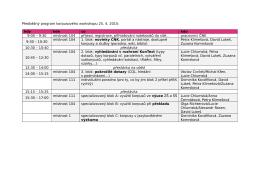 Předběžný program korpusového workshopu 25. 4. 2015: kdy kde