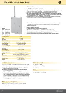 GSMovládačahlásičč GD