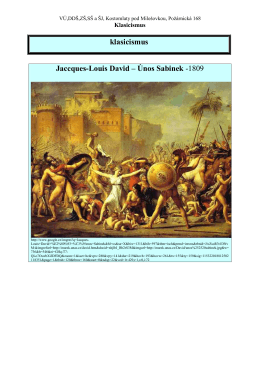 klasicismus Jaccques-Louis David – Únos Sabinek -1809