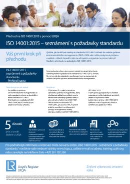 ISO 14001:2015 - seznámení s požadavky standardu 0.21MB