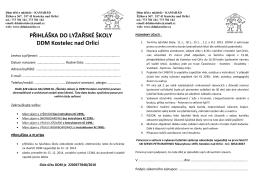 přihláška ke stažení - DDM Kostelec nad Orlicí