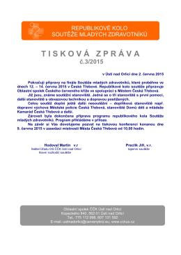 Tisková zpráva 3-2015