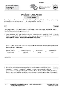 kategorie D atlas a test zadání