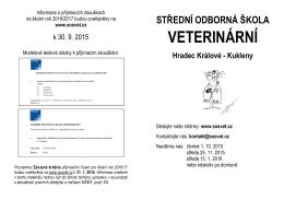 letak_2015-16 - poslední verze - Střední odborná škola veterinární