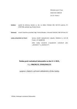 správní žaloba - poslední verze 25. 6. 2015